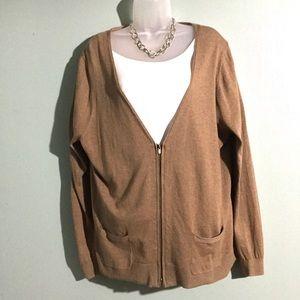 NWT Lane Bryant tan cotton cardigan size 18/20